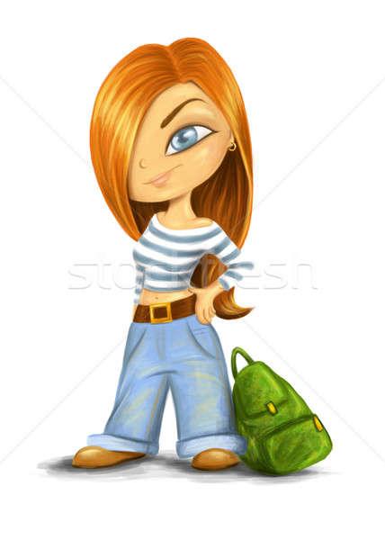 Girl in jeans Stock photo © Artlover