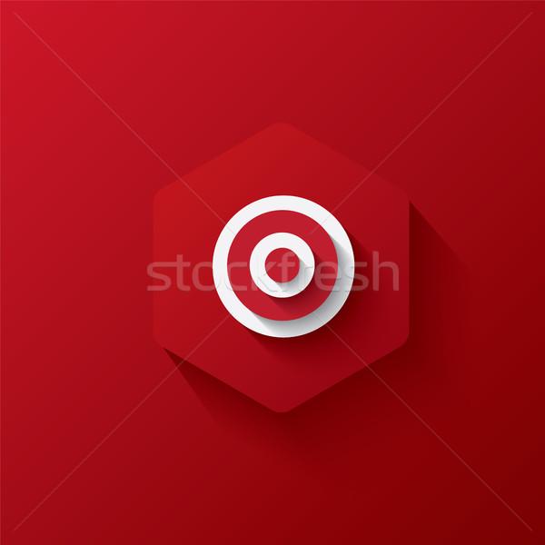 icon red vector Stock photo © artrachen