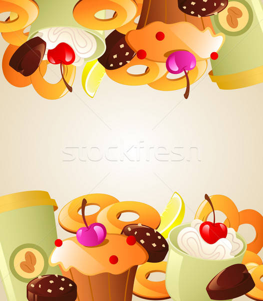 Background with sweet cakes Stock photo © Artspace
