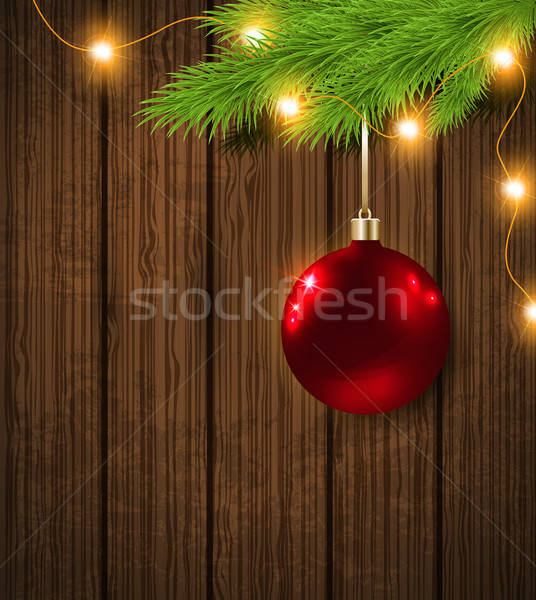 Red decoration and garland Stock photo © Artspace