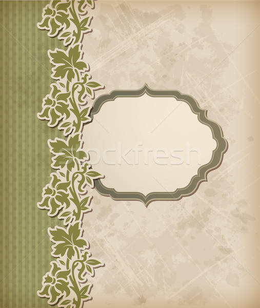Vintage green vector background Stock photo © Artspace