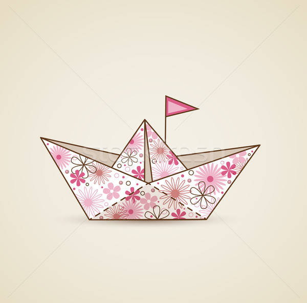 Paper boat and flowers Stock photo © Artspace