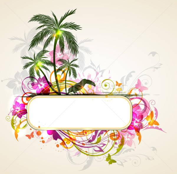 Résumé été bannière vecteur lumineuses tropicales Photo stock © Artspace
