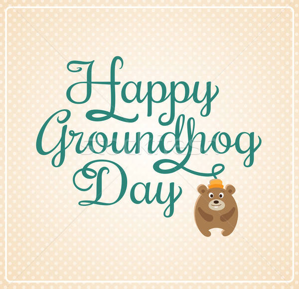 Card for Groundhog Day Stock photo © Artspace