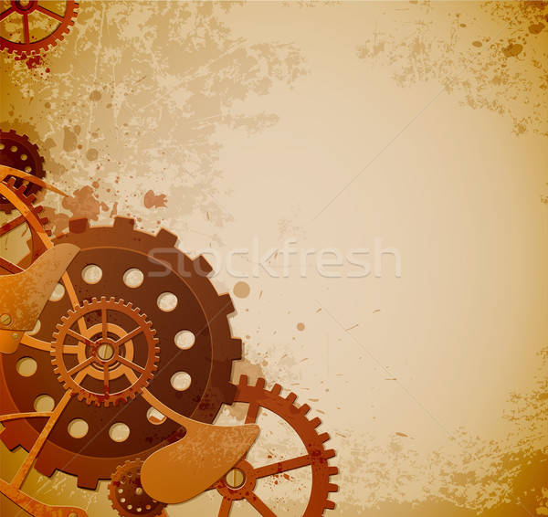 Steampunk background with gears  Stock photo © Artspace