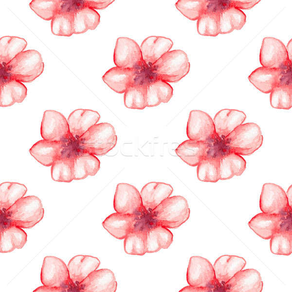 Pattern with red flowers Stock photo © Artspace
