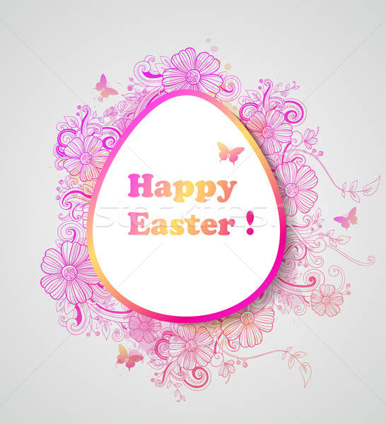 Easter background with pink flowers Stock photo © Artspace
