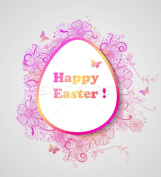 Húsvét rózsaszín virágok dekoratív vektor tavasz Stock fotó © Artspace