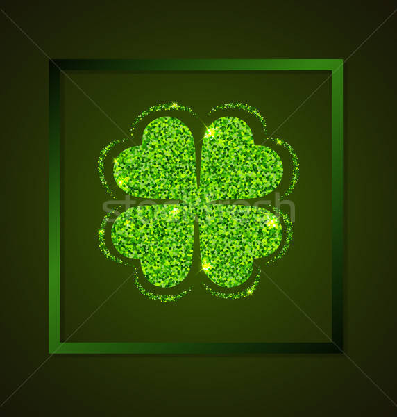 Yonca yeşil kart Aziz Patrick Günü bahar dizayn Stok fotoğraf © Artspace