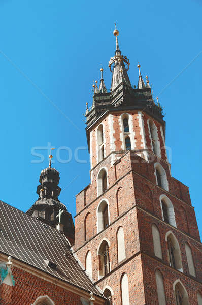 Basilique cracovie ciel bleu ciel église bleu Photo stock © Artspace
