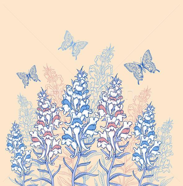 синий розовый Полевые цветы декоративный вектора цветок Сток-фото © Artspace