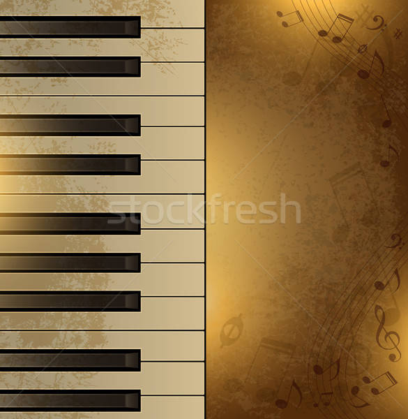 Vintage background with piano Stock photo © Artspace