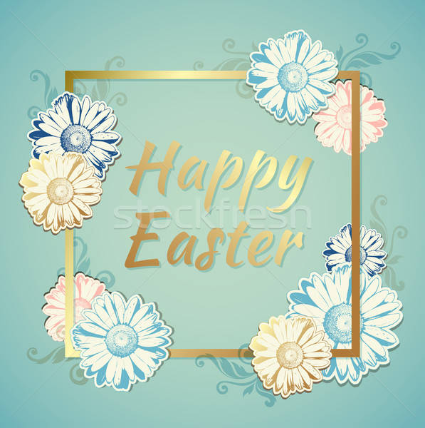 Easter background with flowers Stock photo © Artspace