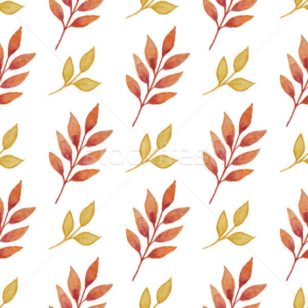Autumn pattern with leaves Stock photo © Artspace