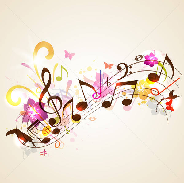 Stock photo: Summer music background