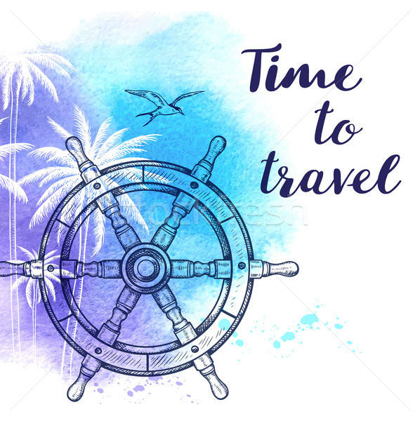 Watercolor travel background Stock photo © Artspace