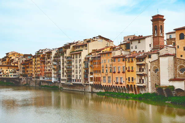 Old houses on the Arno River Stock photo © Artspace