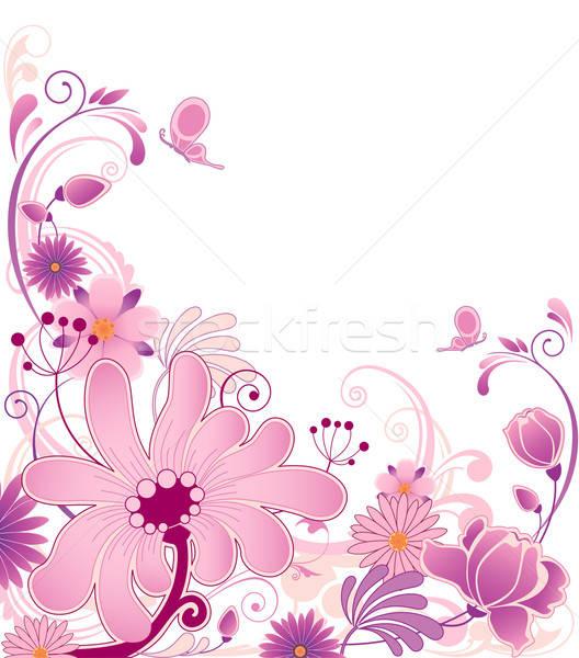 Floral ornamento violeta flores natureza projeto Foto stock © Artspace