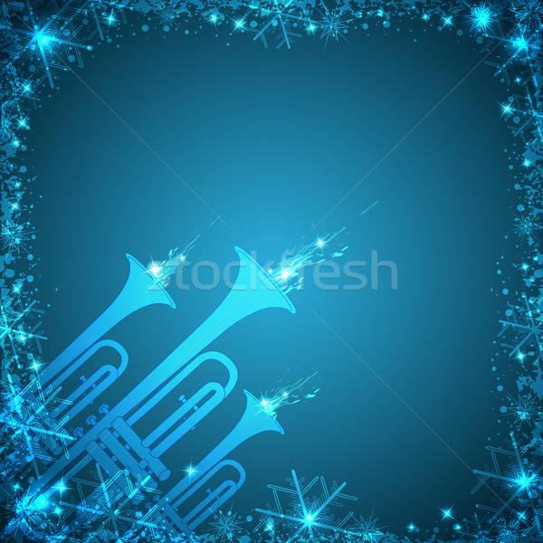 Blue Christmas card Stock photo © Artspace