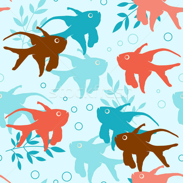 Seamless pattern with tropical fishes Stock photo © Artspace