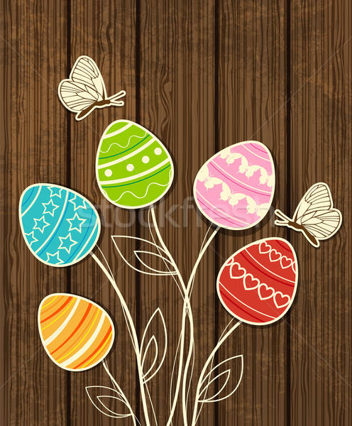 Easter background with eggs Stock photo © Artspace