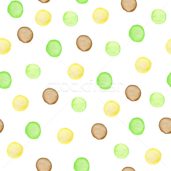 Watercolor seamless pattern with polka dots. Stock photo © Artspace