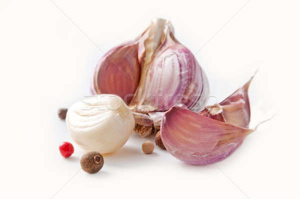 Garlic cloves and pepper Stock photo © Artspace