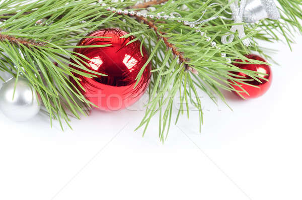 Christmas background with red decoration Stock photo © Artspace