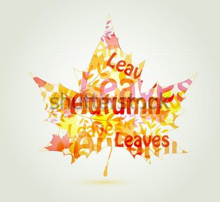 аннотация Maple Leaf осень природы дизайна фон Сток-фото © Artspace