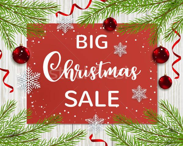 Seizoen- christmas verkoop groene Stockfoto © Artspace