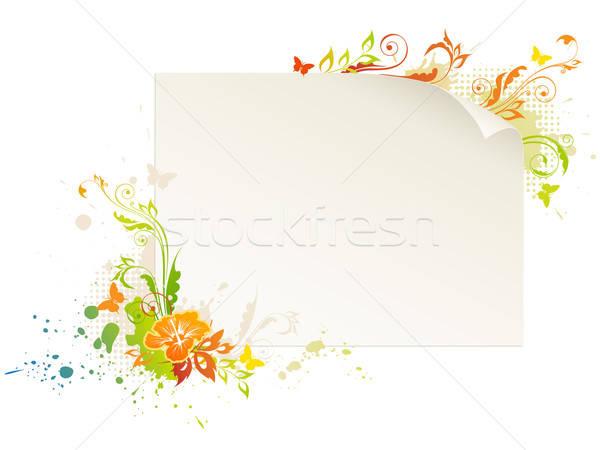 Papír virág üres lap virágmintás dísz Stock fotó © Artspace