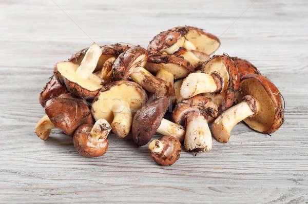 Ehető vad gombák fából készült étel erdő Stock fotó © Artspace