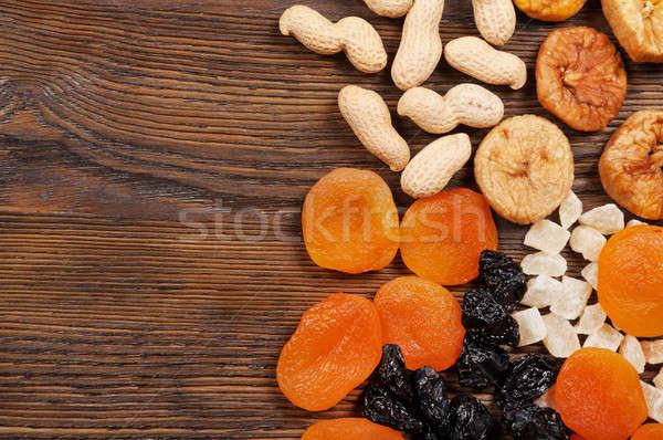 Arachidi essiccati frutti legno texture alimentare Foto d'archivio © Artspace