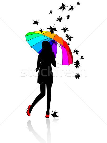 girl under an umbrella Stock photo © Artspace