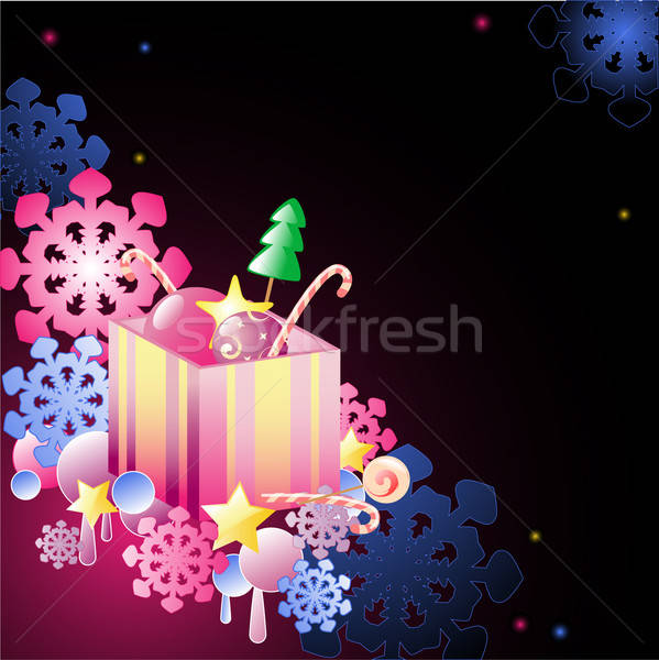 Christmas background with gift Stock photo © Artspace
