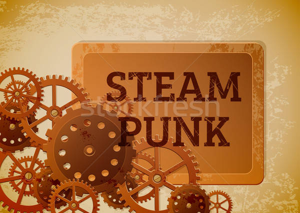 Vintage steampunk résumé industrielle engins style Photo stock © Artspace