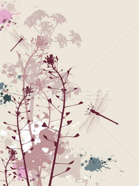 Stok fotoğraf: Grunge · çiçekler · yusufçuk · etki · bahar · dizayn