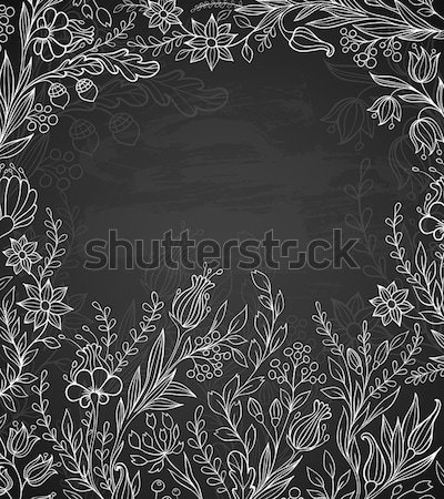 Black background with white flowers Stock photo © Artspace