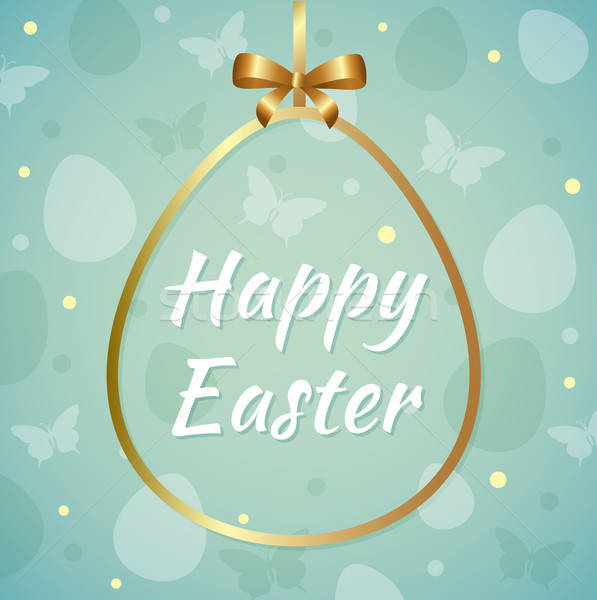Easter background with greeting inscription Stock photo © Artspace
