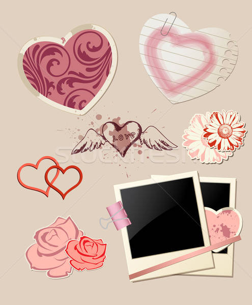 Valentine`s Day scrapbook  Stock photo © Artspace