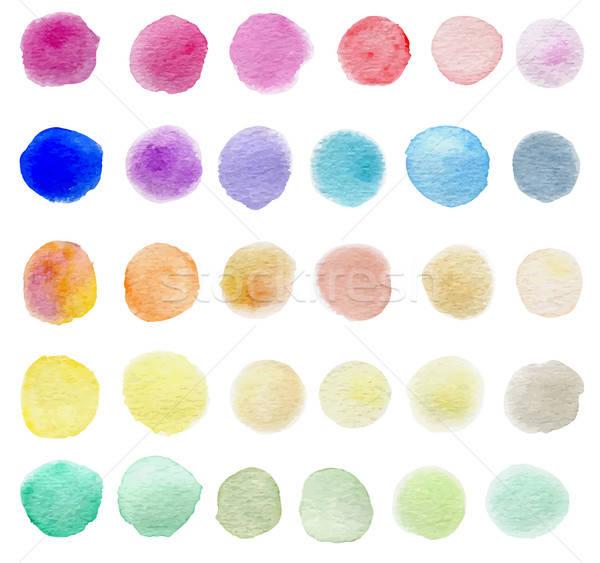Vecteur couleur pour aquarelle résumé texture vert Photo stock © Artspace