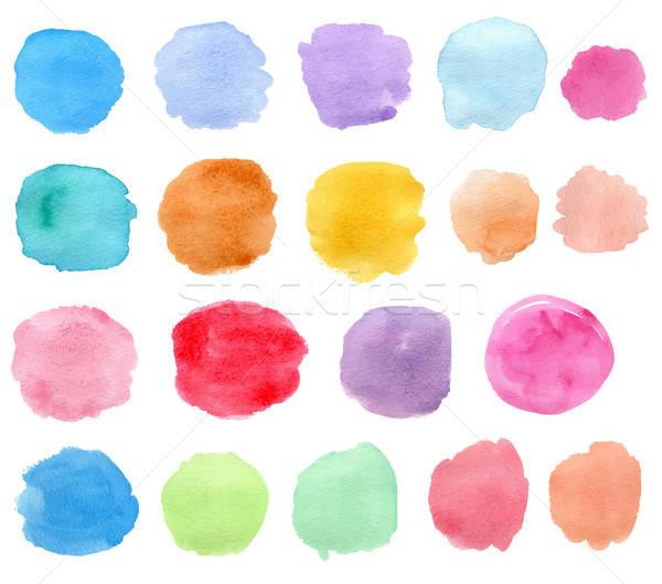 Bright vector watercolor blots  Stock photo © Artspace
