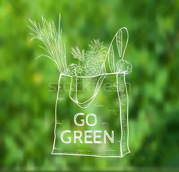 Reusable shopping  eco bag Stock photo © Artspace