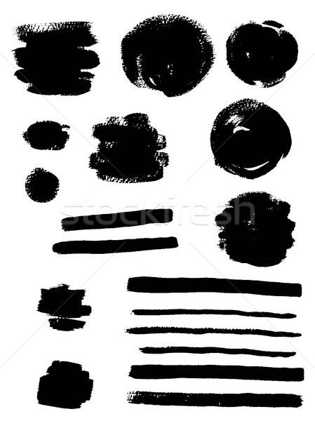 Black ink vector blots Stock photo © Artspace