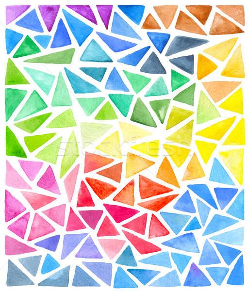 Set of bright vector watercolor triangles  Stock photo © Artspace