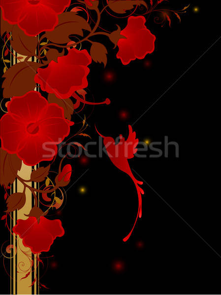 floral background with red flowers Stock photo © Artspace