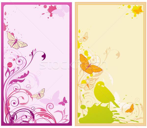 Vettore floreale sfondi farfalle ornamento for Sfondi farfalle gratis