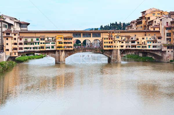 Pont FLORENCE Italie vue rivière maison Photo stock © Artspace