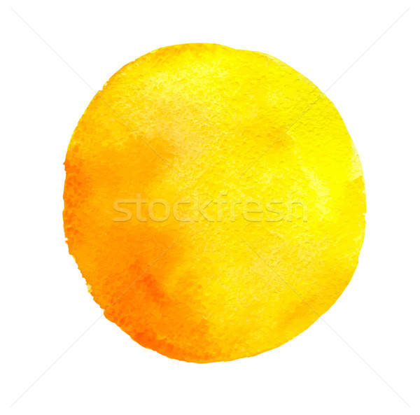 Yellow round watercolor blob Stock photo © Artspace