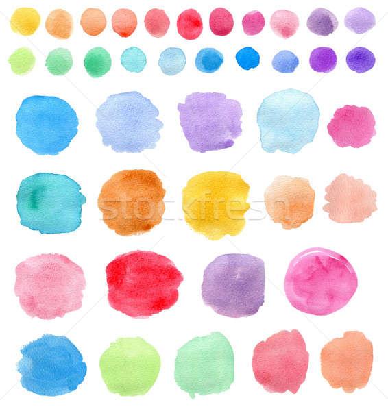 Bright Watercolor blots Stock photo © Artspace
